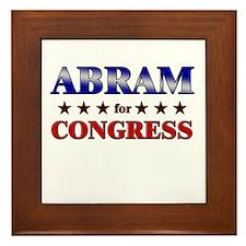 ABRAM for congress Framed Tile
