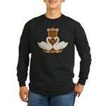 Celtic Swans Long Sleeve Dark T-Shirt