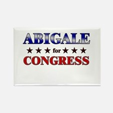 ABIGALE for congress Rectangle Magnet