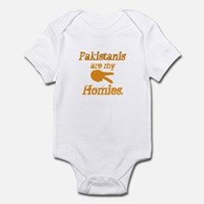 Pakistanis are my Homies Infant Bodysuit