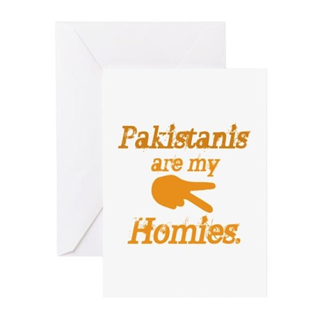 Pakistanis are my Homies Greeting Cards (Pk of 10)