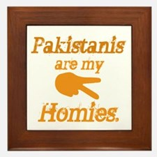 Pakistanis are my Homies Framed Tile