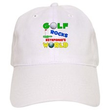 Golf Rocks Estefania's World Baseball Cap