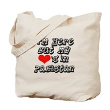 my hearts in Pakistan Tote Bag
