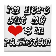 my hearts in Pakistan Tile Coaster