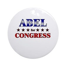 ABEL for congress Ornament (Round)