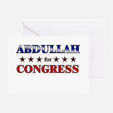 ABDULLAH for congress Greeting Card