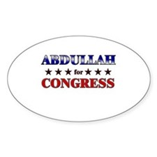 ABDULLAH for congress Oval Decal
