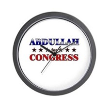 ABDULLAH for congress Wall Clock