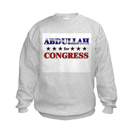 ABDULLAH for congress Kids Sweatshirt