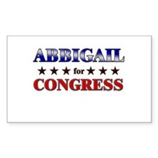 ABBIGAIL for congress Rectangle Decal