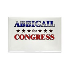 ABBIGAIL for congress Rectangle Magnet