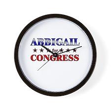ABBIGAIL for congress Wall Clock