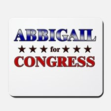 ABBIGAIL for congress Mousepad