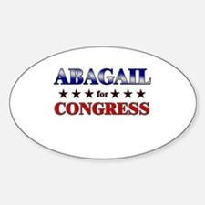 ABAGAIL for congress Oval Decal