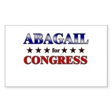 ABAGAIL for congress Rectangle Decal