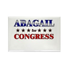 ABAGAIL for congress Rectangle Magnet