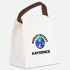 World's Okayest Kaydence Canvas Lunch Bag