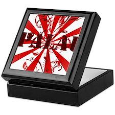 Palau red vintage Keepsake Box
