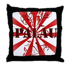 Palau red vintage Throw Pillow