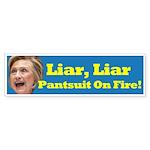 Liar, Liar Hillary Clinton Bumper Sticker