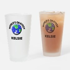 World's Okayest Kelsie Drinking Glass