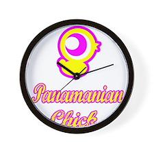 Panamian Chick Wall Clock