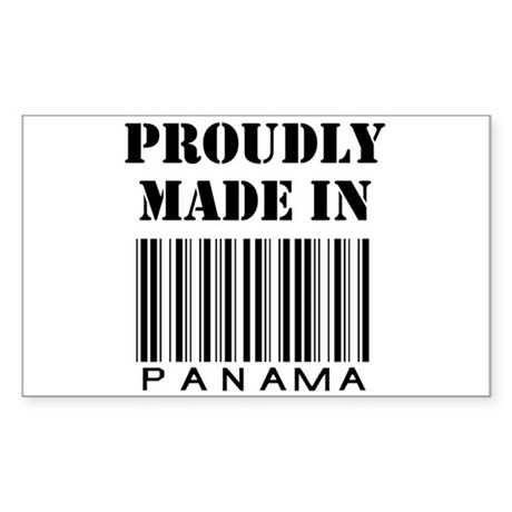 proudly made in Panama Rectangle Sticker