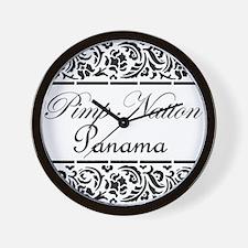 Pimp nation Panama Wall Clock