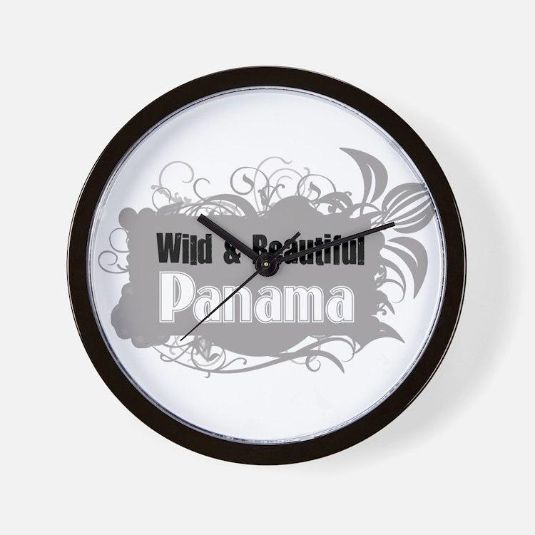Wild Panama Wall Clock