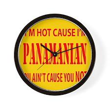 Hot Panamian Wall Clock