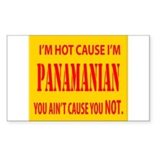 Hot Panamian Rectangle Decal