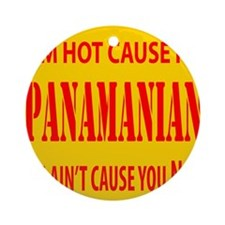 Hot Panamian Ornament (Round)
