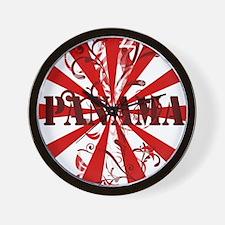 red vintage Panama Wall Clock