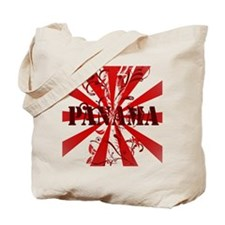 red vintage Panama Tote Bag