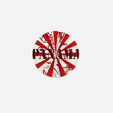 red vintage Panama Mini Button