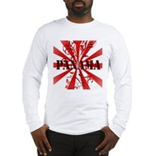 red vintage Panama Long Sleeve T-Shirt