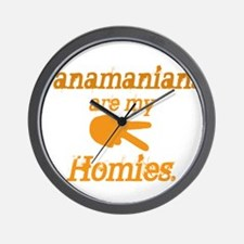Panamians are my homies Wall Clock