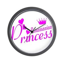 Panamian Princess Wall Clock