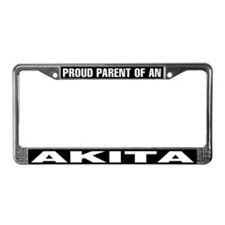 Proud Parent of an Akita License Plate Frame