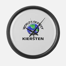 World's Okayest Kiersten Large Wall Clock
