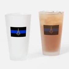 Masons Thin Blue Line Drinking Glass