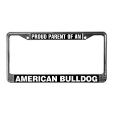 American Bulldog License Plate Frame