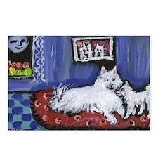 Eskie Mom n pup Design Postcards (Package of 8)