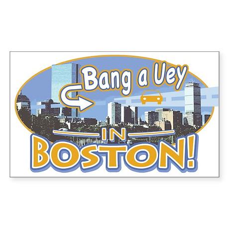 Bang a Uey Boston Rectangle Sticker