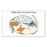 Birddog Yin & Yang Rectangle Sticker