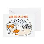 Birddog Yin & Yang Greeting Card