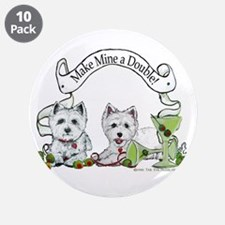 """West Highland Happy Hour! 3.5"""" Button (10 pack)"""