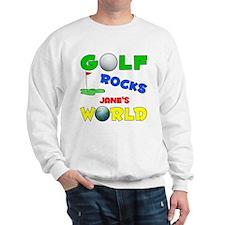 Golf Rocks Jane's World - Sweatshirt