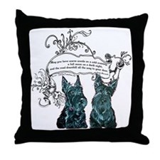 Scottish Terrier Proverb Throw Pillow